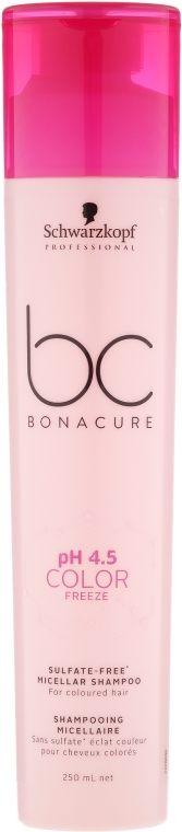 Șampon micelar pentru păr vopsit - Schwarzkopf Professional Bonacure Color Freeze Sulfate-free Micellar Shampoo