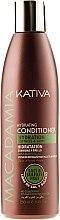 Parfumuri și produse cosmetice Balsam hidratant pentru păr normal și deteriorat - Kativa Macadamia Hydrating Conditioner
