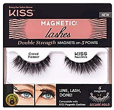 Parfumuri și produse cosmetice Gene false cu magneți - Kiss Magnetic Lashes Double Strength KMEL 05 Crowd Pleaser