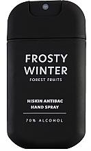 """Parfumuri și produse cosmetice Spray pentru dezinfectarea mâinilor """"Fructe sălbatice"""" - HiSkin Antibac Hand Spray Frosty Winter"""