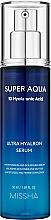 Parfumuri și produse cosmetice Ser hidratant pentru față - Missha Super Aqua Ultra Hyalron Serum