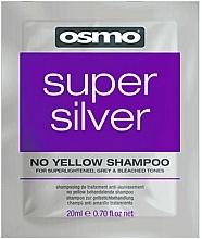 Parfumuri și produse cosmetice Șampon super argintiu fără nuanțe de galben - Osmo Super Silver No Yellow Shampoo (mostră)
