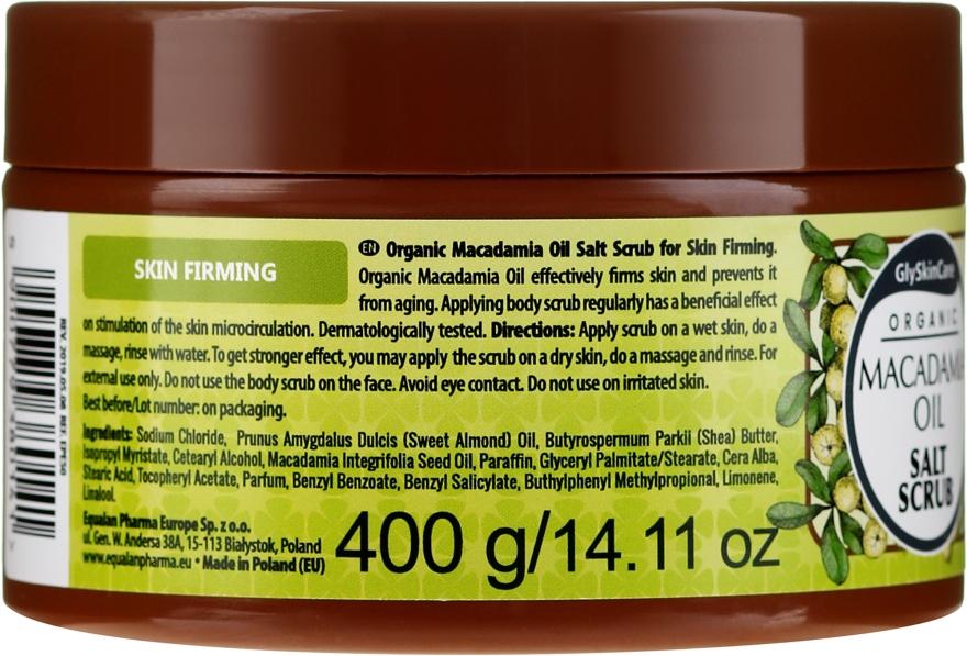 Peeling de sare cu ulei de macadamia - GlySkinCare Macadamia Oil Salt Scrub — Imagine N2