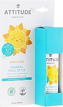 Parfumuri și produse cosmetice Stick de protecție solară pentru față - Attitude Mineral Face Stick SPF 30