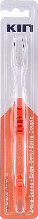 Periuță de dinți, extra moale, roșie - Kin Extra Soft Toothbrush — Imagine N1