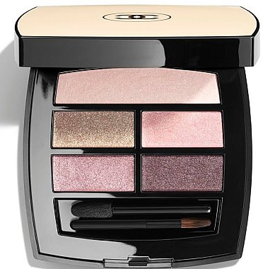 Paletă fond de ten cu efect de strălucire naturală - Chanel Les Beiges Healthy Glow Eye Shadow Palette Light — Imagine N1