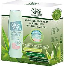 Parfumuri și produse cosmetice Set - Instituto Espanol Aloe Vera & Avena Set (b/balm/500ml + b/cream/50ml)