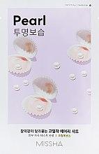 Parfumuri și produse cosmetice Mască cu extract de perle pentru față - Missha Airy Fit Pearl Sheet Mask