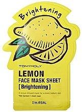 Parfumuri și produse cosmetice Mască cosmetică din hârtie pentru față - Tony Moly I'm Real Lemon Mask Sheet