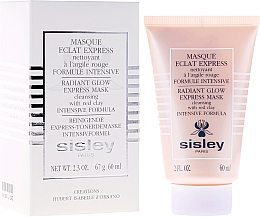 Parfumuri și produse cosmetice Mască expres cu argilă roșie - Sisley Eclat Express Radiant Glow Express Mask Cleansing With Red Clay Intensive Formula