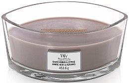 Parfumuri și produse cosmetice Lumânare parfumată în pahar - WoodWick Black Amber and Citrus Ellipse Scented Candle