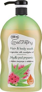 Șampon-gel de duș, cu ulei de eucalipt - Bluxcosmetics Naturaphy Eucalyptus Oil Hair & Body Wash