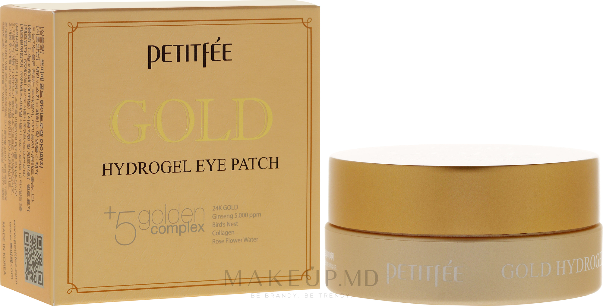 Patch-uri sub ochi - Petitfee&Koelf Gold Hydrogel Eye Patch — Imagine 60 buc
