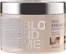 Parfumuri și produse cosmetice Mască nutritivă pentru nuanțe calde de blond - Schwarzkopf Professional Blondme Tone Enhancing Bonding Mask Warm Blondes