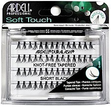 Parfumuri și produse cosmetice Set de gene individuale - Ardell Soft Touch Duralash Short Black Tapered Tips