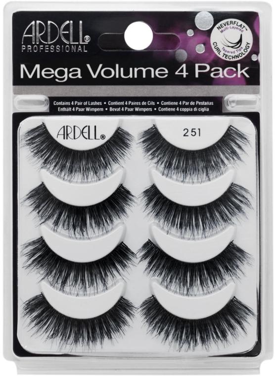 Set gene false - Ardell Mega Volume 4 Pack 251 Lashes (8 buc.) — Imagine N1