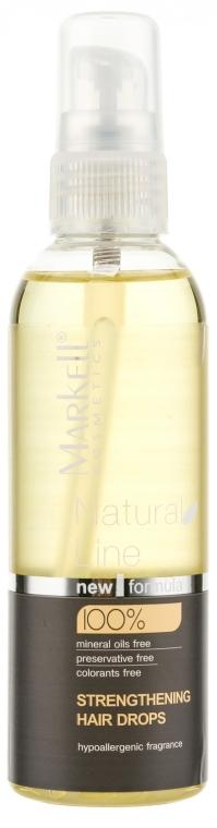Picături de întărire pentru păr - Markell Cosmetics Natural Line  — Imagine N1