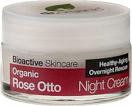 """Parfumuri și produse cosmetice Cremă de noapte pentru față """"Trandafir"""" - Dr. Organic Rose Night Cream"""