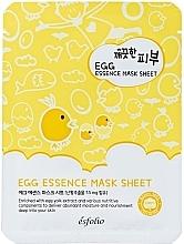 Parfumuri și produse cosmetice Mască din țesătură cu ou - Esfolio Pure Skin Egg Essence Mask Sheet