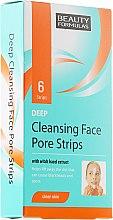 Parfumuri și produse cosmetice Benzi pentru curățarea pielii feței - Beauty Formulas Deep Cleansing Face Pore Strips