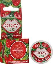 """Parfumuri și produse cosmetice Peeling de buze """"Căpșuni"""" - Bielenda Crazy Kiss Strawberry Sugar Lip Scrub"""