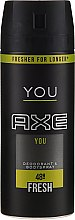 Parfumuri și produse cosmetice Deodorant-spray - Axe You Fresh Deodorant Spray
