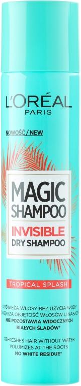 Șampon uscat pentru păr - L`Oreal Magic Shampoo Tropical Splash