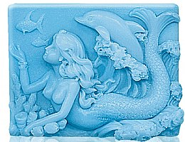 """Parfumuri și produse cosmetice Săpun de glicerină """"Sirena de mare"""" - Bulgarian Rose Glycerin Fragrant Soap Blue Mermaid"""