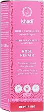 Parfumuri și produse cosmetice Ulei intensiv pentru hidratarea părului - Khadi Ayuverdic Rose Repair Hair Oil