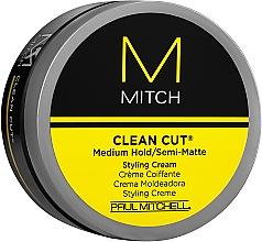 Parfumuri și produse cosmetice Cremă de styling semi-mată, fixare medie - Paul Mitchell Mitch Clean Cut Styling Cream