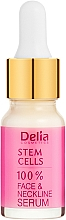 Parfumuri și produse cosmetice Ser împotriva ridurilor cu acid-hialuronic și celule stem pentru față și gât - Delia Face Care Stem Sells Face Neckline Intensive Serum