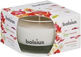 """Parfumuri și produse cosmetice Lumânare aromată în suport de sticlă """"Grapefruit și ghimbir"""", 50/80mm - Bolsius True Moods Candle"""