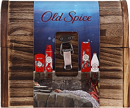 Parfumuri și produse cosmetice Set - Old Spice Deep Sea Wooden Chest (deo/spray/150ml + deo/50g + sh/gel/250ml + ash/lot/100ml)