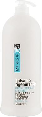 Balsam regenerant pentru păr uscat și slab - Black Professional Line Regenerating Conditioner