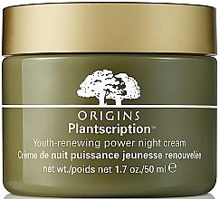 Parfumuri și produse cosmetice Cremă anti-îmbătrânire de noapte pentru față - Origins Plantscription Youth Renewing Power Night Cream