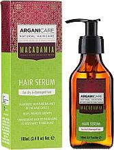 Духи, Парфюмерия, косметика Serum do suchych i zniszczonych włosów z olejem makadamia - Arganicare Macadamia Hair Serum for Dry & Damaged Hair