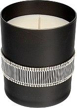 Parfumuri și produse cosmetice Lumânare aromată, neagră, 8x9,5cm - Artman Crystal Glass