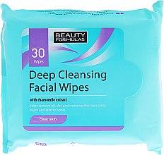 Parfumuri și produse cosmetice Șervețele demachiante pentru față - Beauty Formulas Deep Cleansing Facial Wipes
