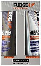 Parfumuri și produse cosmetice Set - Fudge Clean Blonde Damage Rewind Toning-Violet (shm/250ml+cond/250ml)