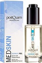 Parfumuri și produse cosmetice Ser-peeling enzimatic facial cu extract de Papaya - PostQuam Med Skin Enzimatic Peel Serum With Papaya Extract
