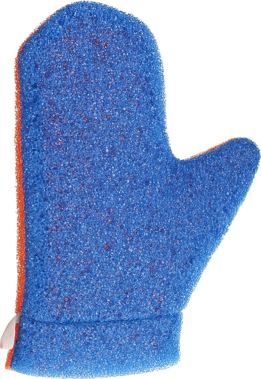 """Burete-mănușă de duș """"Aqua"""", 6021, albastru-portocalie - Donegal Aqua Massage Glove"""