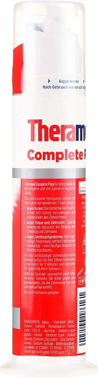 Pastă de dinți, cu pompă - Theramed Complete Plus — Imagine N2