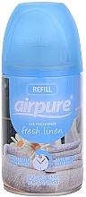 "Parfumuri și produse cosmetice Odorizant de aer ""Freshness"" - Airpure Air-O-Matic Refill Fresh Linen"