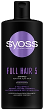 Parfumuri și produse cosmetice Șampon cu iarbă de tigru pentru păr fin, fără volum - Syoss Full Hair 5 Shampoo