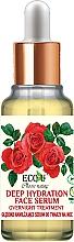 Parfumuri și produse cosmetice Сыворотка для лица - Eco U Natural Face Serum Deep Hydration Overnight Treatment