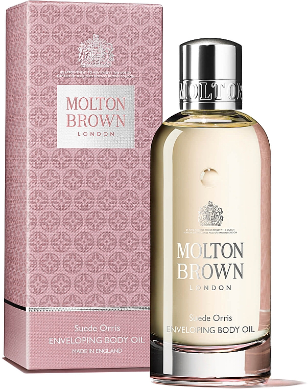 Molton Brown Suede Orris Enveloping Body Oil - Ulei de macadamia  — Imagine N2