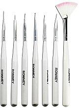 Parfumuri și produse cosmetice Set perii pentru designul unghiilor, RN 00470 - Ronney Professional (7 bucăți)