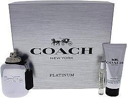 Parfumuri și produse cosmetice Coach Platinum - Set (edp/100ml + edp/7.5ml + s/g/100ml)