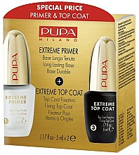 Parfumuri și produse cosmetice Set - Pupa Extreme Kit (primer/5ml + top/coat/5ml)