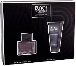 Parfumuri și produse cosmetice Antonio Banderas Seduction in Black - Set (edt/50ml + a/sh/b/50ml)